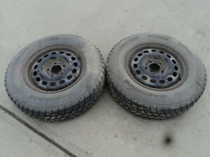 2 Hankook Tires with Rims for 1991-1997 Pontiac Grand Prix