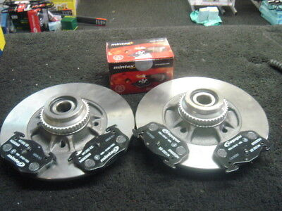 RENAULT CLIO SPORT CUP 172 REAR BRAKE DISC MINTEX PAD BEARINGS ABS RINGS FITTED
