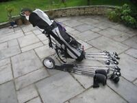 For Sale: Golf set with trolley, balls, tees etc:
