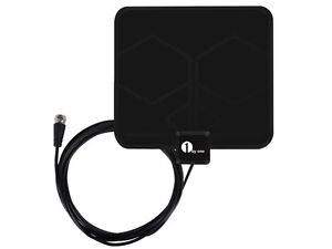 1Byone Thin Indoor HDTV Antenna - 25 Miles Range, 10-Foot Cable