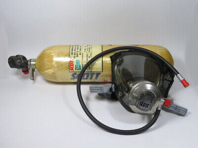 Scott 802260-02 Air Pressure Tank And Mask Regulator Assembly Used