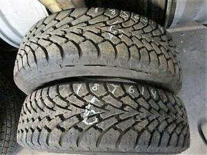 185/55 R14 GOODYEAR NORDIC USED TIRES (SET OF 2) - 80% TREAD