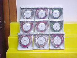 Lot of 9 Sealed Real Dried Flowers Alarm Clock Heart Shaped
