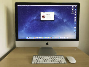 2012 iMac 27 i5-2.9GHz 8GB RAM 1TB HDD 512MB Graphics - MINT