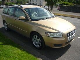 Volvo V50 1.8I S SPORTSWAGON **Full Service History** (gold) 2007