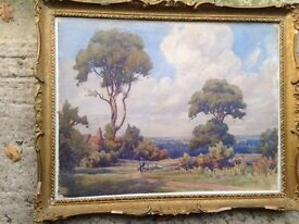 Original signed framed 19thC painting, w/c by Samuel Warburton 1874-1938, plus others.