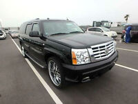 FRESH IMPORT CADILLAC ESCALADE ESV LONG WHEEL BASE 8 SEATER BLACK AUTOMATIC