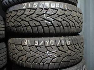 215/70 R16 HANKOOK WINTER TIRES *USED SNOW TIRES* (SET OF 2) - APPROX. 95% TREAD ($140 FOR 2)