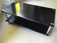 Habitat TV table on wheels black