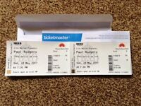 2 Loggia Box Paul Rodgers Tickets Royal Albert Hall 28/05/207 £130 for both - below face