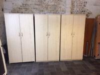 2 Door Maple Stationary Cupboards