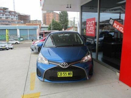2014 Toyota Yaris NCP130R MY15 Ascent Tidal Blue 4 Speed Automatic Hatchback