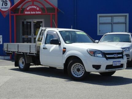 2010 Ford Ranger PK XL White 5 Speed Manual Cab Chassis Welshpool Canning Area Preview