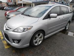 2009 Mazda 5 Hatchback Sunroof 6 seats Silver Only 113,000Km