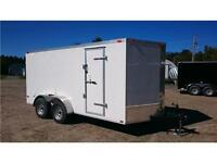 WINTER CLEARANCE**** NEW 7X14+2 V Nose ENCLOSED TRAILER 2016