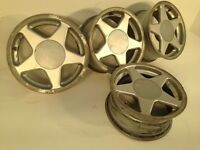 "TITAN AZEV 15"" 4x100 7j alloy wheels. Deep dish. not borbet bbs, ats, lenso, hartge, at"