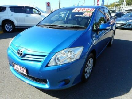 2012 Toyota Corolla ZRE152R MY11 Ascent Blue 6 Speed Manual Hatchback