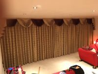 Classic design, lined floor to ceiling curtains 6.2m wide