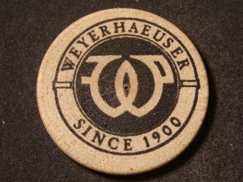 Weyerhaeuser 100th Anniversary wooden nickel Springfield OR