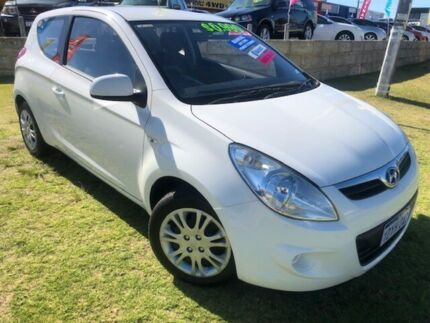 2012 Hyundai i20 PB MY12 Active White 5 Speed Manual Hatchback Wangara Wanneroo Area Preview