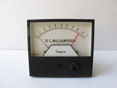 Simpson 21668 - 3324aixa Analog Panel Meter Relay 0-1 Milliamperes 4 12 Ssp