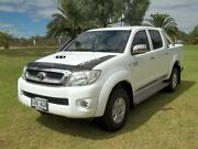 2010 Toyota Hilux KUN26R MY10 SR5 White 5 Speed Manual Utility Murray Bridge Murray Bridge Area Preview