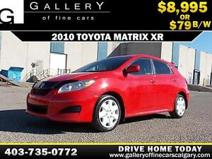 2010 Toyota Matrix XR $79 bi-weekly APPLY TODAY DRIVE TODAY