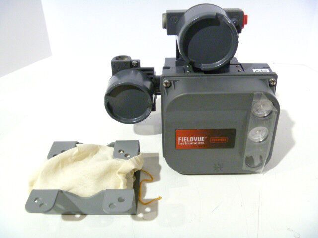 Fisher DVC6005 Fieldvue Type AD Remote Valve Positioner w/ Mount NEW 2 Gauge