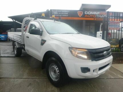 2014 Ford Ranger PX XL 4x2 Hi-Rider White 6 Speed Sports Automatic Cab Chassis Merrylands Parramatta Area Preview