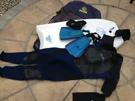 Alder bodyboard and accessories