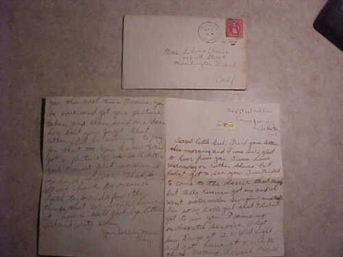Soldiers love Letter-Tr. D 1st California Cavalry-Camp Kearney CA Great Content!