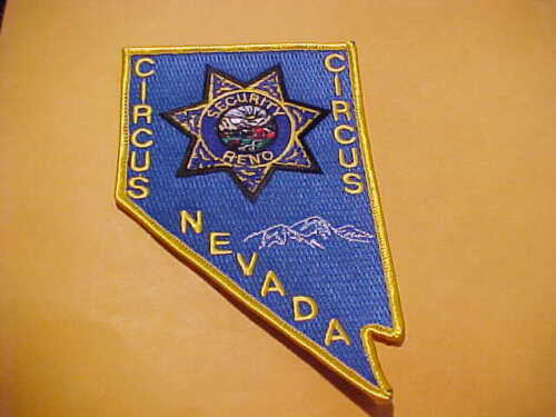 NEVADA CIRCUS CIRCUS CASINO SECURITY POLICE PATCH SHOULDER SIZE UNUSED