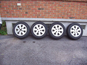 Honda Prelude Mag Wheels with Winter Tires / 195-65-15