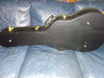 DLX Deluxe Black Locking Dreadnought Acoustic Guitar Case