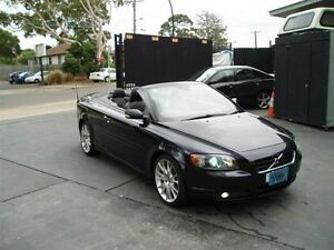 2007 Volvo C70 T5 Black 5 Speed Auto Geartronic Convertible Villawood Bankstown Area Preview