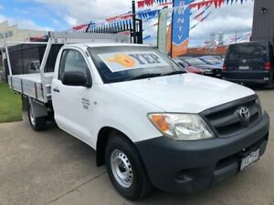 2005 Toyota Hilux TGN16R Workmate White 5 Speed Manual Cab Chassis