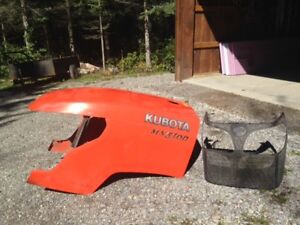 Kubota tractor hood and grill