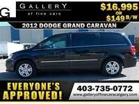 2012 Dodge Grand Caravan CREW $149 bi-weekly APPLY NOW DRIVE NOW