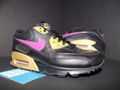 Nike Air Max 90 Cl (2006 NIKE AIR MAX 90 CL GS BLACK RAVE PINK GOLD DAY 1 312153-062 4Y)
