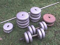 171.6 lb 78 kg Big Grey Dumbbell & Barbell Weights - Heathrow
