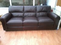 leather 3 seater and 1 chaire