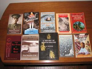 VARIETY OF BOOKS ON NEWFOUNDLAND