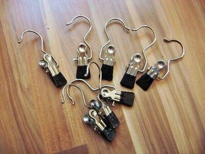 10 gummierte Klips mit Haken z. Aufhängen Mützen, Schals, Tücher oder Dekoration