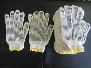 Industrial Supplier:PVC Dots one sided cotton gloves