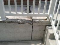 RETIRED MASON+concrete porch repair specialist/brick repair