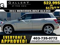 2011 Mercedes GLK350 4Matic $179 bi-weekly APPLY NOW DRIVE NOW