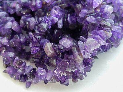 Purple Amethyst Chip Beads 34 Inch Strand 5-8mm, Nuggets, Gemstones     (GB1129)