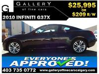 2010 Infiniti G37x AWD $209 bi-weekly APPLY TODAY DRIVE TODAY