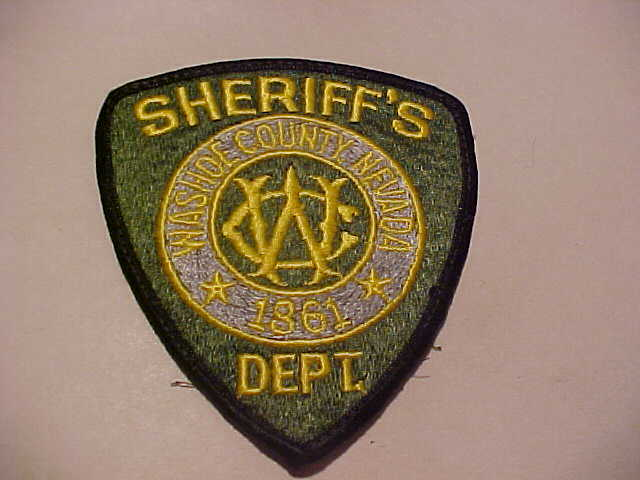 WASHOE COUNTY NEVADA  POLICE PATCH SHOULDER SIZE USED