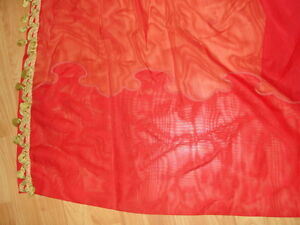 red sheer pinch pleated drapes and valance Peterborough Peterborough Area image 5